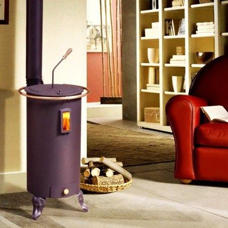 Votre poêle à bois peut être placé contre un mur, près de votre bois de chauffage