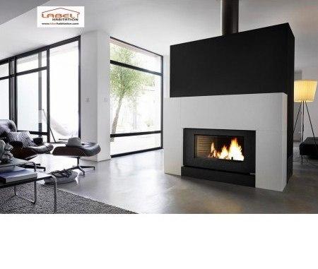 Un poêle à bois est aussi pratique qu'une cheminée à foyer ouvert